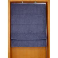 Buy cheap 100% polyester fabric roman shades for windows with aluminum headrail and pvc bottomrail from wholesalers