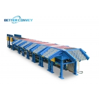 Buy cheap Ball Roller Guide Wheel Sorting Machine Connecting Conveyor Belt Sorter Parcel for Logistics Company from wholesalers