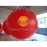 Buy cheap Supply Bespoke Large Red Inflatable Advertising Balloons with UV protected printing for Anniversary Events from wholesalers