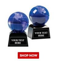 Buy cheap globe awards crystal k9 optical glass dia80mm from wholesalers