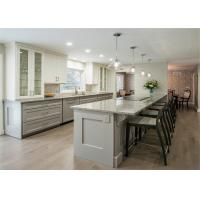 Buy cheap Matt MDF Wood Kitchen Cabinets Quartz / Granite Countertop Lacquer Shaker Style from wholesalers