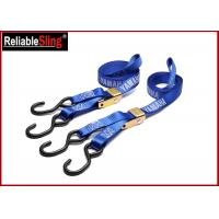 Buy cheap Custom 1 Inch Cam Buckle Tie Down Strap , Polyester Cargo Lashing Strap from wholesalers