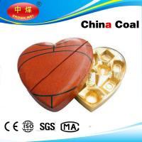 Buy cheap Heart Shape With Football Painted Leather Box For Chocolate product