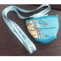Buy cheap Custom blue coulor neoprene insulator outdoor  wine glass cooler holder sleeve with neck strap lanyard product