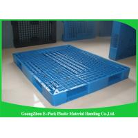 Buy cheap Heavy Duty Rackable 1 Ton Steel Reinforced blue Plastic Pallets 1200*1000mm from wholesalers