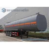 Buy cheap Carbon Steel container semi trailer 45000L 3 Axle Ellipse Shape from wholesalers
