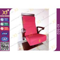 Buy cheap High Plywood Back Embroidered Chairs for Church Hall With Single Legs from wholesalers