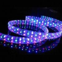 Buy cheap 24/110/220V 4-wire Flat Flexible Rope Light, Available in Red/Blue/Green/RG/RGB Color from wholesalers
