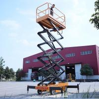 Buy cheap Industrial Motorized Lift Platform , Hydraulic Platform Lift For Construction from wholesalers