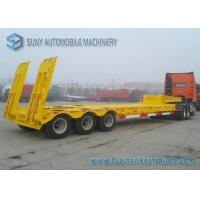 Buy cheap 3 Axle 100 Ton Low Bed Semi Trailer Heavy Duty Flatbed Trailer With Manual Ramp from wholesalers