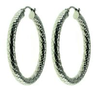 Buy cheap 316L Shiny Polishing Stainless Steel Hoop Earrings With Gold Plated from wholesalers