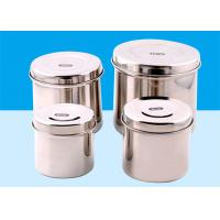 Buy cheap Silver Stainless Steel Sterilization Container With Small , Medium , Large Size from wholesalers