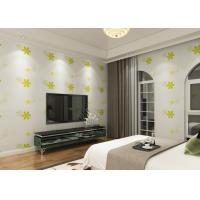 Buy cheap Japanese Style Durable Asian Inspired Wallpaper With Green Embossed Bloom from wholesalers