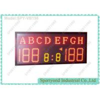 Buy cheap High School Sports Electronic Volleyball Scoreboard / Table Tennis Score Boards with Team Name and Red LED from wholesalers