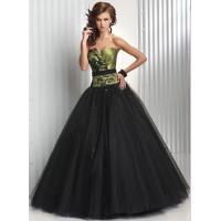 Buy cheap Empire V Neckline Long Wormens Party Dresses , Tulle Evening Gown from wholesalers