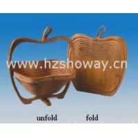 Buy cheap Bamboo Folding Basket(Apple design) for holding fruit, food as well as decoration from wholesalers