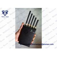 Buy cheap WiFi GPS Handheld Signal Jammer Cooling Fans Effective In Radiating Heat from wholesalers