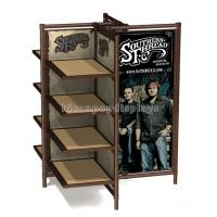 Buy cheap Freestanding Advertising Wood Shelving 4 - Way Retail Clothing Racks Customized from wholesalers
