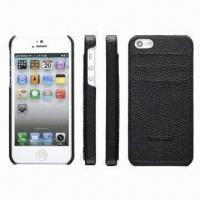Buy cheap Fashionable Leather Case for iPhone 5, Back Cover with Can Insert Two Cards, Hot and New Design product