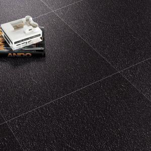 Buy cheap Black Unglazed Pure Color Porcelain Tiles 600x600mm Rustic Kitchen Floor Tiles product