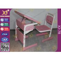 Buy cheap Single Student Childs School Desk And Chair With Adjustable White Sketch Board from wholesalers