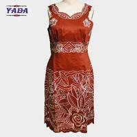 Buy cheap Latest elegant embroidery neck lady slim formal office dresses ladies sexy women direct from manufacturer clothing sale from wholesalers