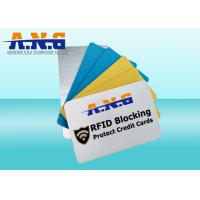 Buy cheap Printed  Wallet Blocking Rfid Smart Card Protectors high Security from wholesalers