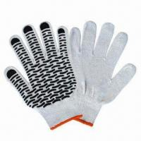 Buy cheap T/C Yarn PVC Dots Gloves in Various Sizes from wholesalers