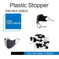 Buy cheap Face Masks Stopper Plastic Cord Stopper Black & White Color Soft PVC from wholesalers