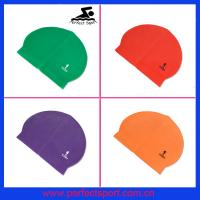 Buy cheap Personalized Logo Silicone Latex Swim Caps for Summer Seaside from wholesalers