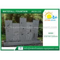 Buy cheap Music Waterfall Cast Stone Garden Fountains For Indoor / Outdoor Use 230 * 60 * 200cm from wholesalers