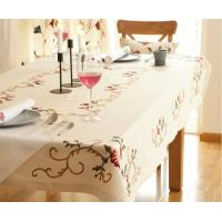 Buy cheap High quality handcrafted embroidery table cloth from wholesalers