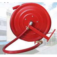 Buy cheap Red Fire Hose Reel And Cabinet Automatic / Manual Swinging Fire Fighting Hose Reel product