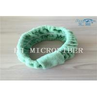 Buy cheap Green Color Microfiber Towel Fabric Chasp Hair Band For Bath Or Washing Face Using from wholesalers