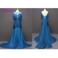 Buy cheap Fashion Navy Blue Mother Of The Bride Dresses , Bead Mermaid Mother Of The Bride Dresses from wholesalers