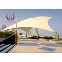 Buy cheap Weather Proof Tensile Fabric Structures Fabric Roofing Systems Long Span Steel Rope Stressed from Wholesalers