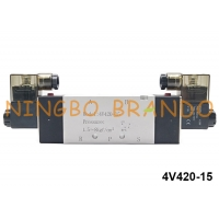 China 1/2'' NPT BSPT 5/2 Way 4V420-15 Air Directional Control Solenoid Pneumatic Valve on sale