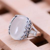 Buy cheap Thai Sterling Silver Ring with White Chalcedony Vintage Style Women Ring (040191) from wholesalers