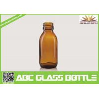 Buy cheap High Quality 125ml 28mm Neck Oral liquid Cough Syrup Glass Amber Round Bottle product