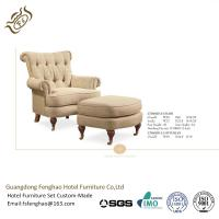 Buy cheap Wooden Feet Upholstered Leisure Chair Ottoman Traditional Button Tufted from wholesalers
