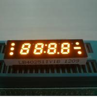 Buy cheap 0.25 Inch Yellow Four Digit 7 Segment LED Clock Display , Small Current Drive from wholesalers