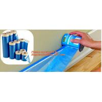 Buy cheap plastic drop cloth, PE drop cloth, plastic masking film, Taped clear HDPE plastic masking film drop film, House Painting from wholesalers