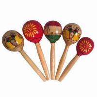 Buy cheap Wooden maracas, different sizes are available from wholesalers