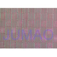 Buy cheap Pink Color Metal Glass Laminated Wire Mesh Fabric For Decoration Design product