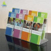 Buy cheap Fashion Clear Acrylic Brochure Holders A4 A5 Countertop Information Brochure Holder from wholesalers