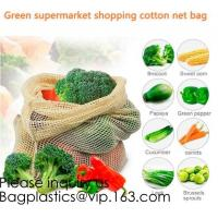 Buy cheap Green Supermarket Shopping Cotton Net bags, Mix Color Narrow Long Handle Cotton from wholesalers