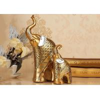 Buy cheap Animal Resin Decoration Crafts , Gold Color Elephant Figurine Statue product