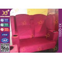 Buy cheap Wooden Frame Fabric Cover VIP Cinema Seating With Armrest / Home Cinema Sofa Seating from wholesalers