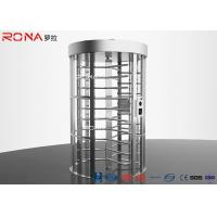 Buy cheap Double Lane Pedestrian Turnstile Gate DC 24 V Brush Motor With Automatic Coin Operated product