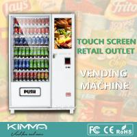 Buy cheap Touch Screen Library Healthy Vending Machines Retailing Snack Foods Drinks Center from wholesalers
